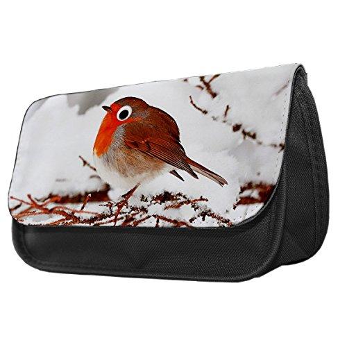 Snow Robin Googley Augen Tier Bleistift Fall/Make-up Tasche 288