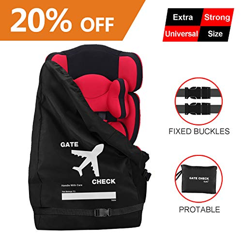 Bable Car Seat Travel Bag, Universal Size Car Seat Cover, Increase Space and Thickness, for Airport Gate Check-in Save Money, Make Traveling Easier, Compatible with Most Name Brand ()