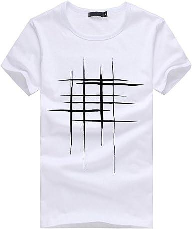 Camiseta con Estampado De Hombres Camisa Cuello De De Redondo ...