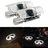 ZNYSTAR 2pcs Car LED Projector Door Lamp Ghost Shadow Welcome Light Courtesy Logo Kit (Infiniti new)