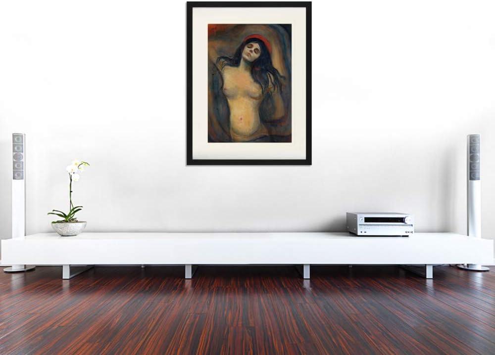 1894-1895 Gerahmtes Poster F/ür Fans Und Sammler 40 x 30 cm Madonna 1art1 Edvard Munch