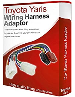 toyota iso car stereo radio wiring harness loom adaptor lead toyota yaris cd radio stereo wiring harness adapter lead loom iso converter wire