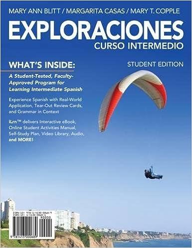 Exploraciones Curso Intermedio With ILrn Printed Access Card World Languages 1st Edition