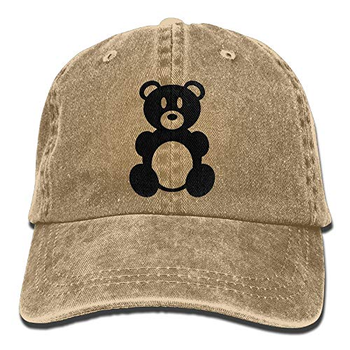 Huagestroe Teddy Bear Cowboy Hip-hop Hat Rear Cap Adjustable Cap -