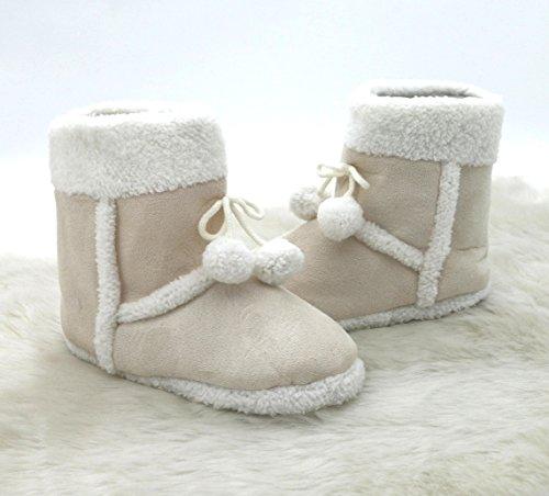Zapatillas de casa con aspecto de piel alcantara, con piel y borla, muy cómodas, con suela antideslizante, fabricación elaborada, para invierno, poliéster, naturaleza, Größe 38 naturaleza