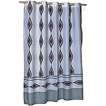 Harlequin EZ On Hookless Fabric Extra Long Shower Curtain With Built In Hooks 70 Wide X 84
