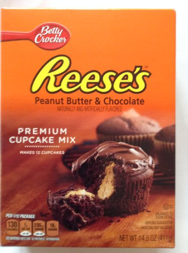 Reese's Peanut Butter & Chocolate Premium Cupcake Mix 14.5 Oz (Pack of 3)