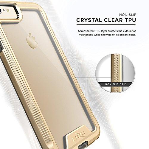 iPhone 6 Plus / 6s Plus Case, Zizo [ION Series] w/[iPhone 6 Plus/ 6s Plus Screen Protector] Clear [Military Grade] - iPhone 7 Plus