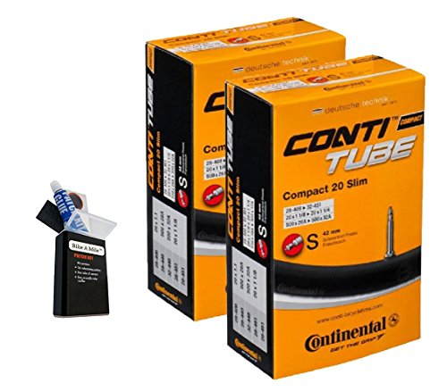 Continental 42MM Presta Valve Bicycle Tube Pack of 2 (2 Pack 42MM, 700 x 25-32cc)