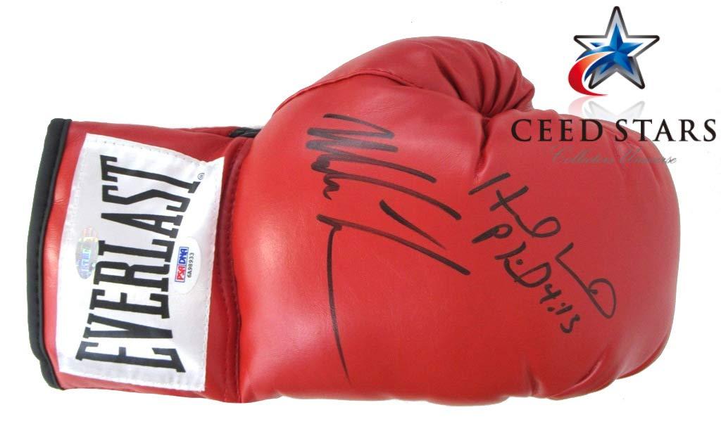 2011年殿堂 マイク タイソン + イベンダー ホリフィールド ダブル 直筆 サイン 入り ボクシング グローブ ナスダック上場 PSA/DNA社 筆跡鑑定シリアルナンバー付き シードスターズ証明書付き