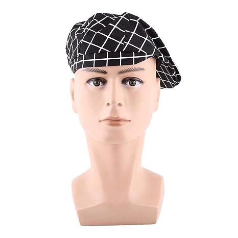 Cappello da Cuoco Berretto da Donna Elegante e Uomo Cappello di Cotone per  Cuoco Panettiere Caffetteria c282e8549f4e