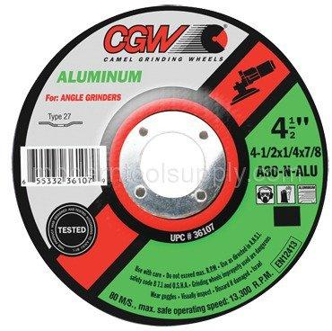 5 x 1/4 x 7/8'' - Aluminum Oxide A30-N-ALU - Depressed Center Wheel by CGW