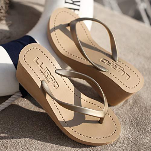 Pantoufles à vacances dérapantes épaisses le Starsou anti Tongs Brown gymnase idéales les Pantoufles la les pour design et loisirs moderne plage confortables pOFqwXp