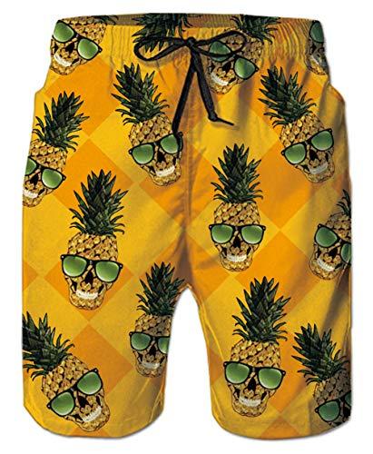 Board Shorts Summer Brand Beach Shorts Men Swimsuit Swimwear Quick Dry Mens Board Shorts Male Bermudas Bathing Short Sportswear Inside Liner Shrink-Proof