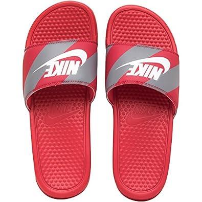 promo code fd899 73aab Nike De JDI Benassi Sandales pour Homme, pour Homme Tongs, Sandales Rouge  UK 11