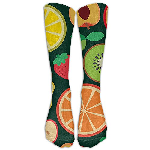 Womens Mens Delicious Fruits Tube Knee High Socks Cute Dress Cotton Socks For - Van Browns Dries Noten