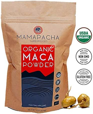 Organic Maca Powder Root 1LB - Peruvian 100% Natural Energy Supplement for Men & Women /Use in Protein Smoothies & Baking/ Superfood for Weight Loss, Hormonal & Immune Health / Raw & Vegan Friendly