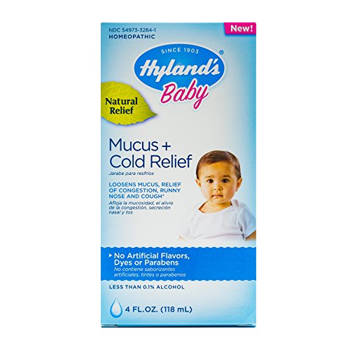 Hyland's Baby Mucus + Cold Relief, Natural Relief of Congestion, Runny Nose & Cough 4 (Kids Cough Relief Syrup)
