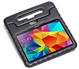 Pwr+ Samsung-Galaxy-TAB-4-10.1-inch Case-for-Kids Protective-Sleeve-Cover Black : Guardian KickStand with Handle for Samsung Galaxy TAB 4 Kid Friendly Shockproof Light Weight Tablet Tab Stand