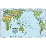 World Peters Projection Map, Pacific-centered -paper folded