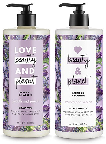(Love Beauty and Planet Argan Oil & Lavender Shampoo and Conditioner, 22 ounce each)