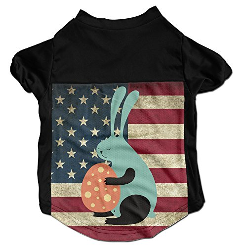 [Bunny And Easter Egg Costumes, Clothing, Shirt, Vest, T-shirt, Puppy Pet Dog Cat Fashion 100% Polyester Fiber Tee Gift For Any Animal Fan Lovers Black] (Fan Costumes)