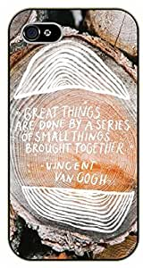 iPhone 6+ Plus Great things are done by a series of small things brought together. Vincent Van Gogh - black plastic case / Inspirational and motivational by SHURELOCK TM