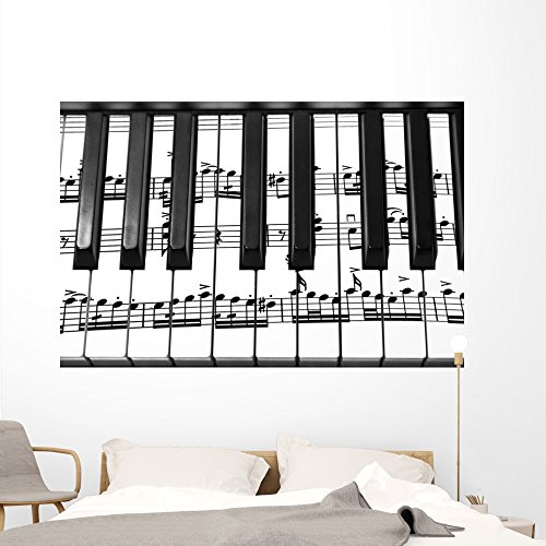 Wallmonkeys Keyboard Grand Piano Wall Mural Peel and Stick Graphic (72 in W x 47 in H) WM12150 -