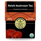 Organic Reishi Mushroom Tea - Kosher, Caffeine-Free, GMO-Free - 18 Bleach-Free Tea Bags