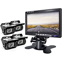 Backup Camera and Monitor Kit Backing Parking Rearview Rear View Back Up For Bus/Truck/Semi-Trailer/Box Truck/RV/Trailer/Tractor/ 5th Wheel When Reversing Parking Backing Make No Blind Area (ER04)