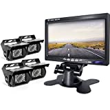 Backup Camera and Monitor Kit For Bus/Truck/Semi-Trailer/Box Truck/RV/Trailer/Tractor/ 5th Wheel When Reversing Parking Backing Make No Blind Area (ER04)