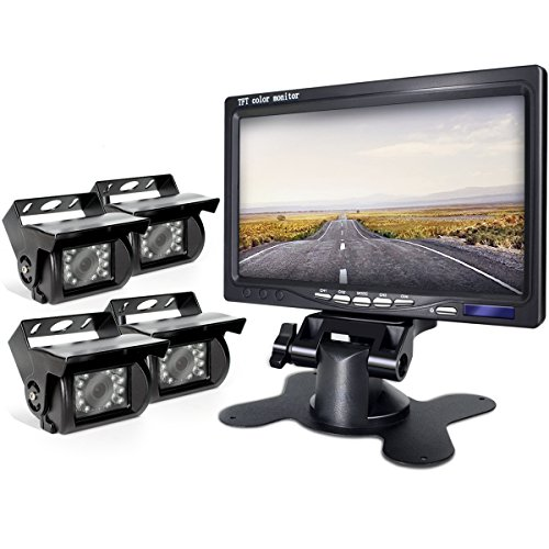 eRapta Backup Camera 2.0 with Split Screen Monitor Back Up for Bus/Truck/Semi-Trailer/Box Truck/RV/Trailer/Tractor/ 5th Wheel When Reversing Parking Backing Make No Blind Area