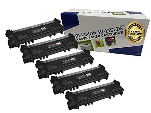 5k Pages Black Toner (HI-VISION 5 Pack Compatible (2,600 Pages) Dell E310dw/ E514dw/ E515dw/ E515dn (593-BBKD, PVTHG) High Yield Black Toner Cartridge Replacement)