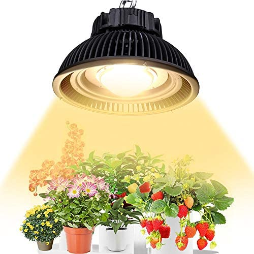 LED Grow Lights for Indoor Plants, CANAGROW High Intensity COB LED Grow Light Full Spectrum, Sunlike White LED Plant Light Growing Lamp, Wide Angle Glass Lens, No Fan No Noise
