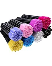 M-Aimee 400 Pieces Multicolored Disposable Mascara Wands Eyelash Brush Makeup Applicators Cosmetic Kit, 8 Colors