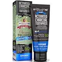 My Magic Mud Activated Charcoal Fluoride Free Whitening Toothpaste Peppermint 4 oz (113 g)