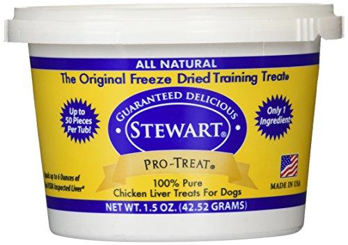 Stewart's Pro-Treat 1.5 Ounce Tub Freeze Dried Dog Treats, Chicken (Single Ingredient)
