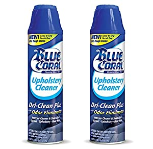 2-Pack Blue Coral Upholstery Cleaner Dri-Clean Plus with Odor Eliminator