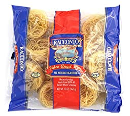 Racconto Nested Fideo/Angel Hair, 12-Ounce Packages (Pack of 16)