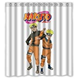 Creative Japanese Anime Uzumaki Naruto Pattern Waterproof Polyester Fabric Bathroom Shower Curtain 66