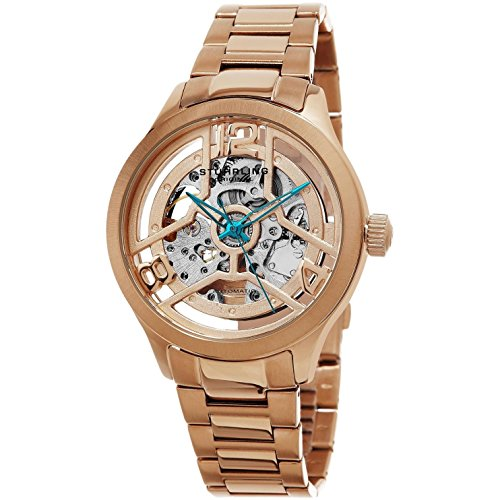 Stuhrling Original Men's 784.04 Symphony Analog Display Automatic Self Wind Rose Gold Watch