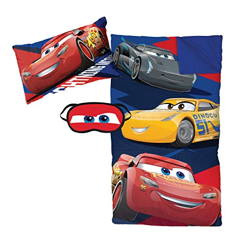 "Jay Franco Disney/Pixar Cars 3""Lightning 3 Piece Plush Sleepover Set"