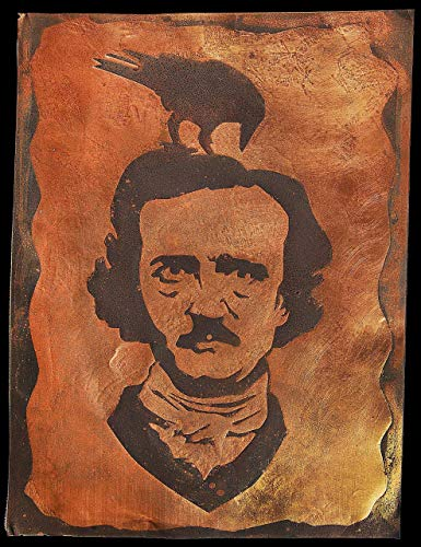 Edgar Allan Poe wall art by InSpiral Tree | Portrait, The Raven, Fan gift, Metal artwork - A groundbreaking, new way to display your preffered art on brass/copper - Bar, Home decor, Poster, man cave