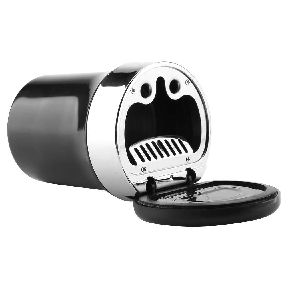 EBTOOLS Tenedor de Cinder de la Taza del Cenicero del Humo de la Ceniza del Cigarrillo del Coche Auto Ligero del LED
