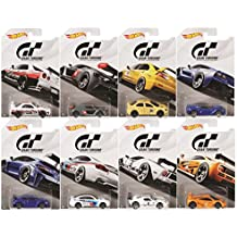 "Hot Wheels 2018 Gran Turismo ""The Real Driving Simulator"" Bundle Set of 8 Die-Cast Cars, 1:64 Scale"