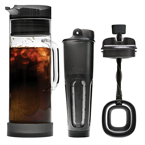 Primula Cold Brew Glass Carafe Iced Coffee Maker, 1.6 Quarts