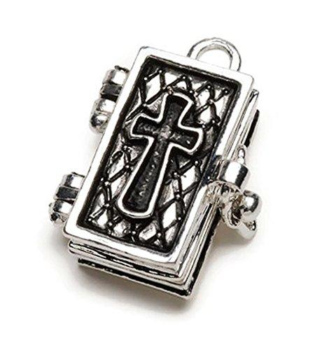 Opening Bible Charm (Bible Cross Prayer Box Charm)