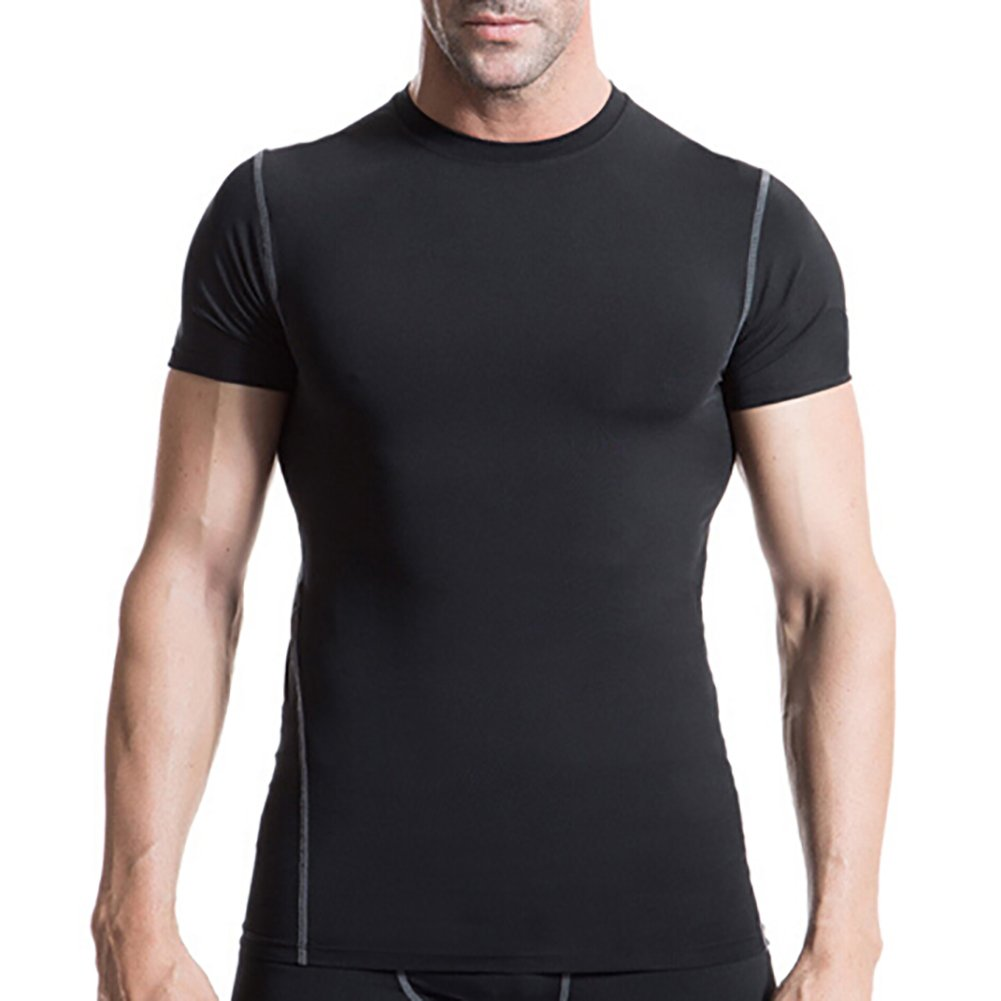 TopTie Mens 3 Pack Athletic Compression Short Sleeve Shirt