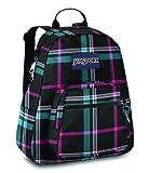 JanSport Half Pint Backpack (Black Cabesa Blue Perry Plaid)