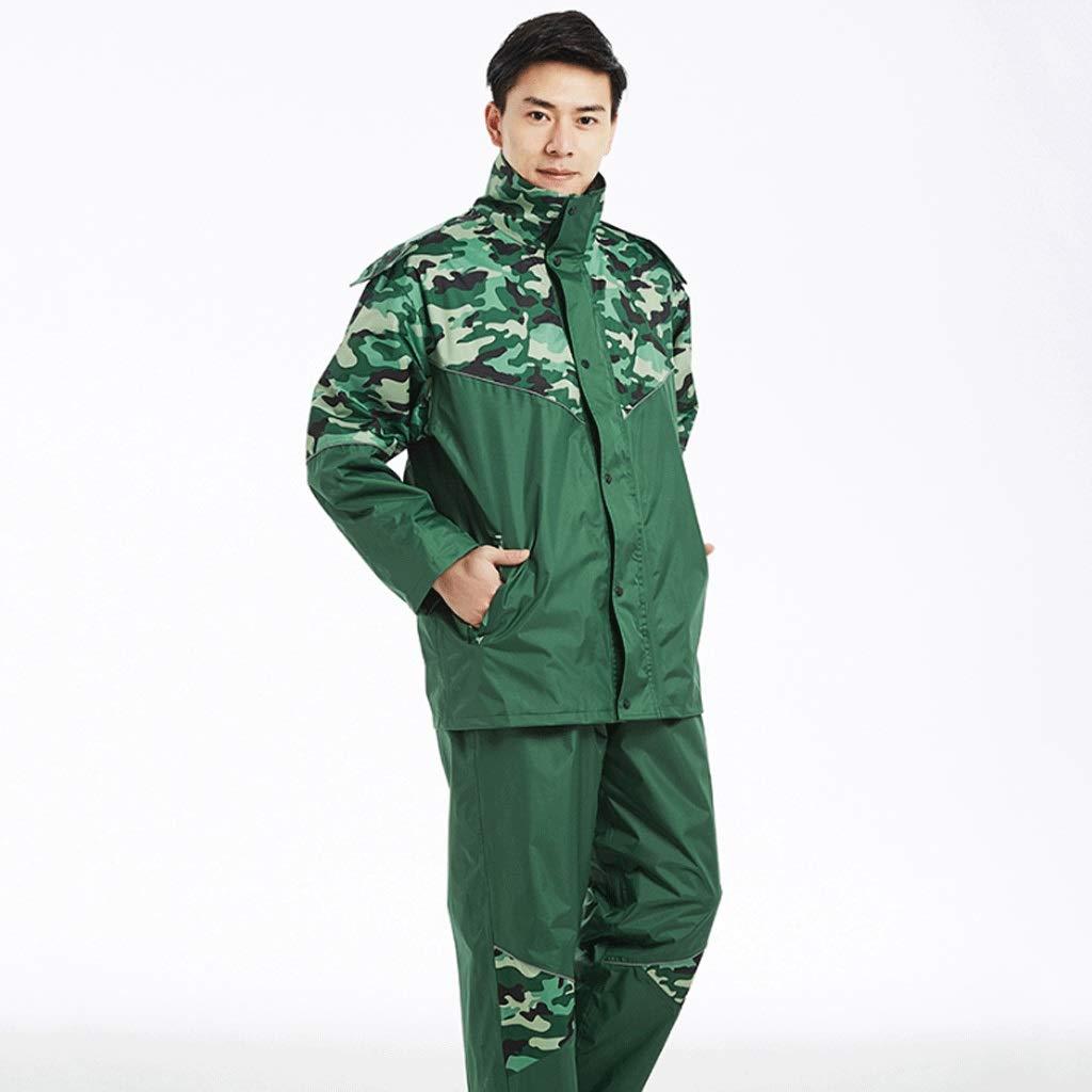 Armée Verte XXXL Duanguoyan Imperméable- Pantalon de Pluie imperméable Camouflage Set Poncho Moto Voiture électrique pour Hommes et Femmes Adulte diviser imperméable (Couleur   Rose Rouge, Taille   XXXXL)